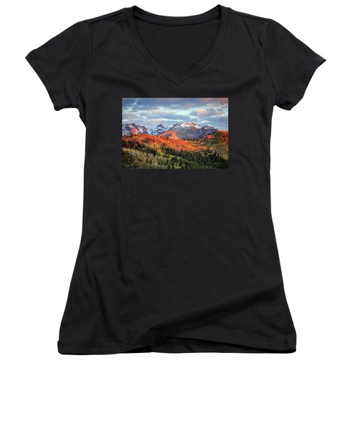 Upper American Fork Canyon Women's V-Neck (Athletic Fit)