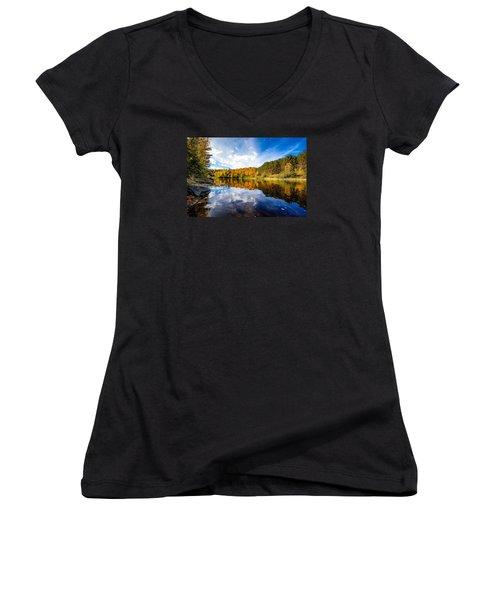 Upper Ammonoosuc River Women's V-Neck T-Shirt