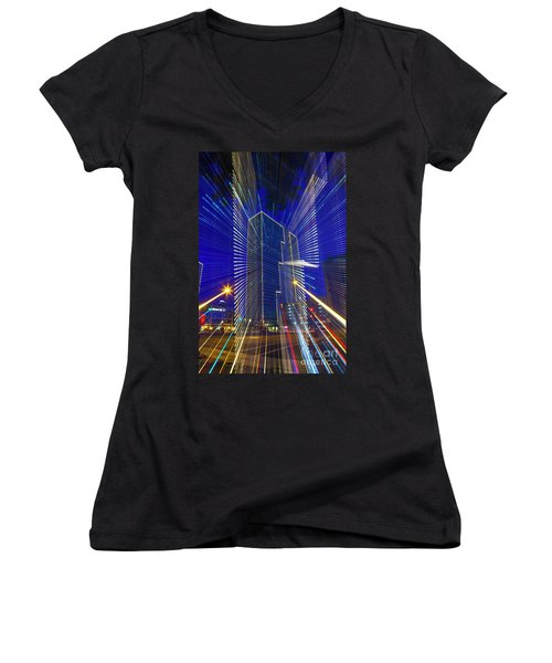 Urban Abstract Women's V-Neck (Athletic Fit)