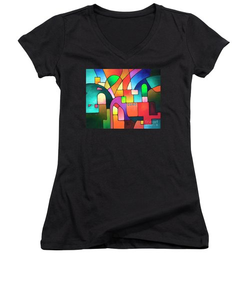 Urbanity Women's V-Neck T-Shirt