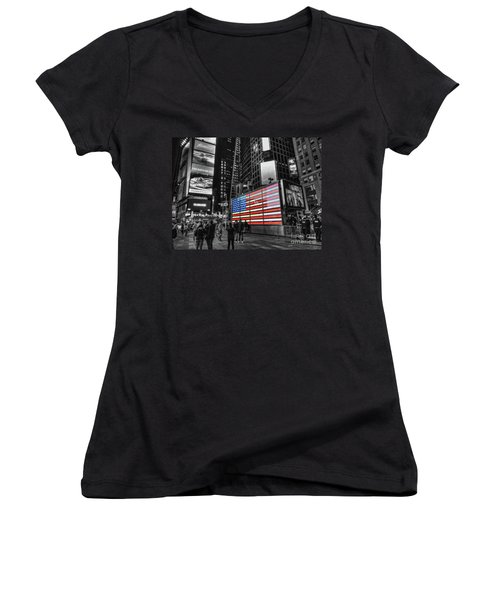 U.s. Armed Forces Times Square Recruiting Station Women's V-Neck