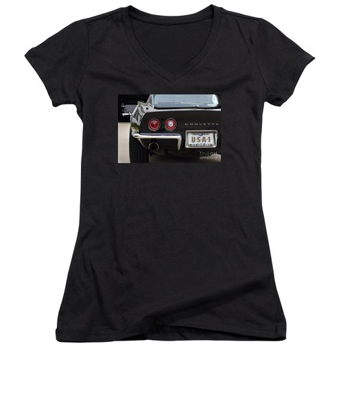 Usa-1 Women's V-Neck T-Shirt
