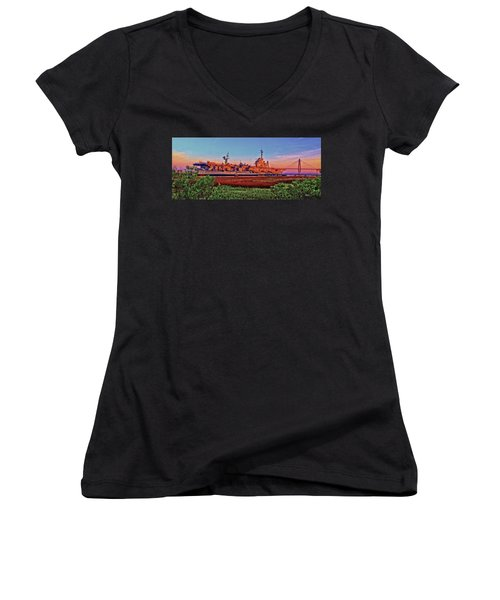 Uss York Town Women's V-Neck