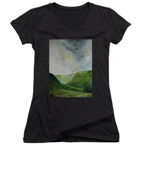 Valley Of Eagles Women's V-Neck (Athletic Fit)