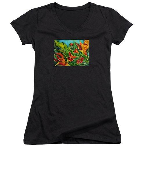 Variation Women's V-Neck T-Shirt (Junior Cut) by Teresa Wegrzyn