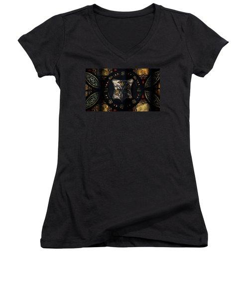 Women's V-Neck T-Shirt (Junior Cut) featuring the photograph Venerable by Rowana Ray