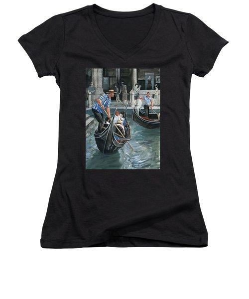 Venice. Il Bacino Orseolo Women's V-Neck