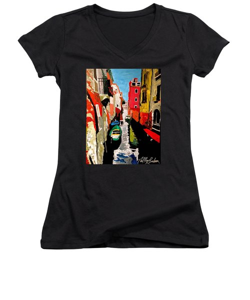 Venice Italy  Women's V-Neck (Athletic Fit)