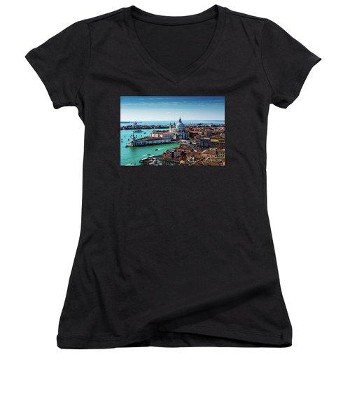 Venice Women's V-Neck T-Shirt (Junior Cut) by M G Whittingham