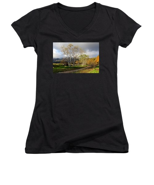 Ventura River Preserve Winter 2017 Women's V-Neck T-Shirt