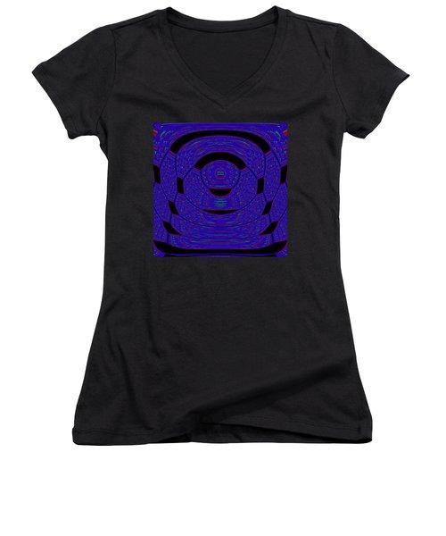 Women's V-Neck featuring the digital art Vereadrild by Andrew Kotlinski