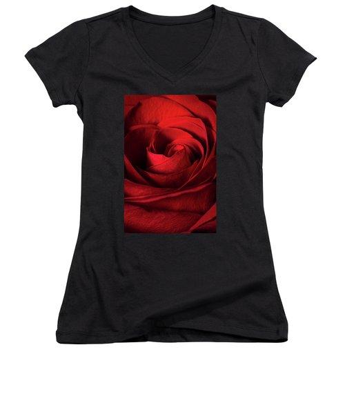 Vertical Rose Women's V-Neck (Athletic Fit)