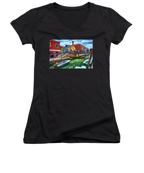 Vibrant Dreams Floating In The Air Women's V-Neck