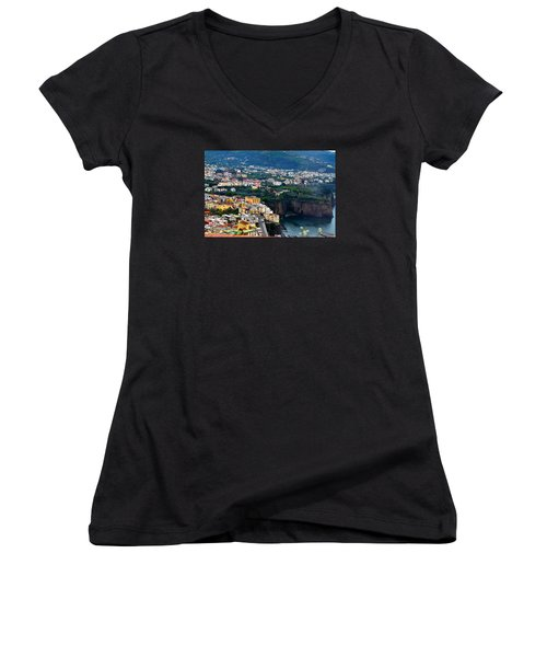 Women's V-Neck T-Shirt (Junior Cut) featuring the photograph View From My Window by Richard Ortolano