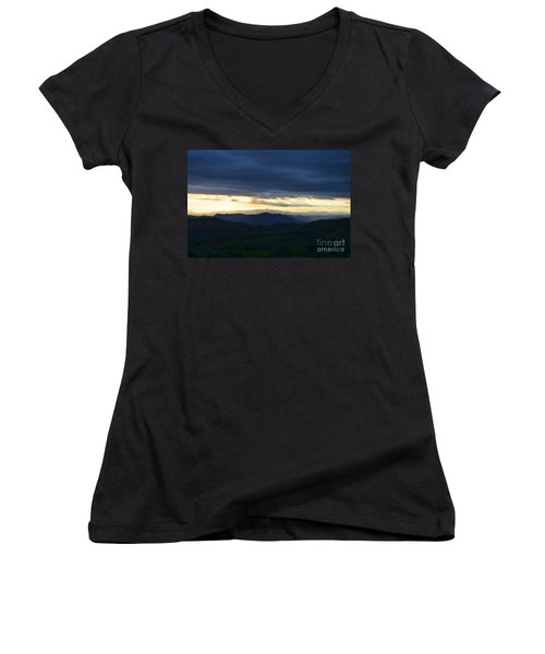 View From Palomar 9633 Women's V-Neck T-Shirt (Junior Cut) by Sharon Soberon