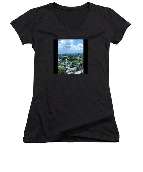City On The Horizon Women's V-Neck T-Shirt