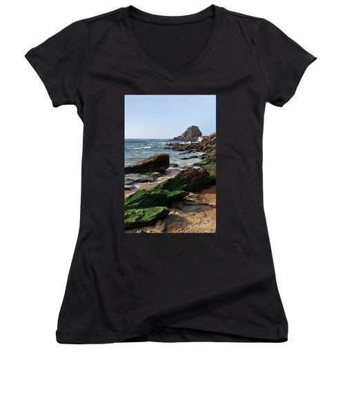 View Of Santa Rita Beach In Torres Vedras Women's V-Neck T-Shirt