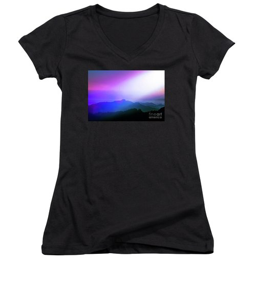Women's V-Neck T-Shirt (Junior Cut) featuring the photograph View Point by Tatsuya Atarashi