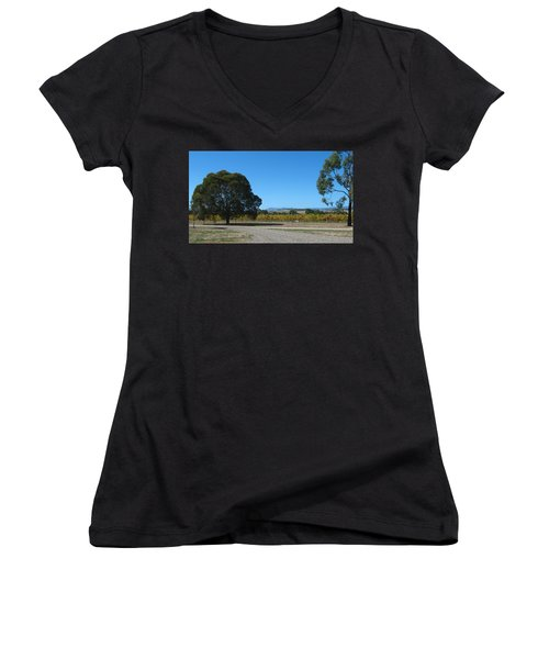 Vineyard Trees Women's V-Neck
