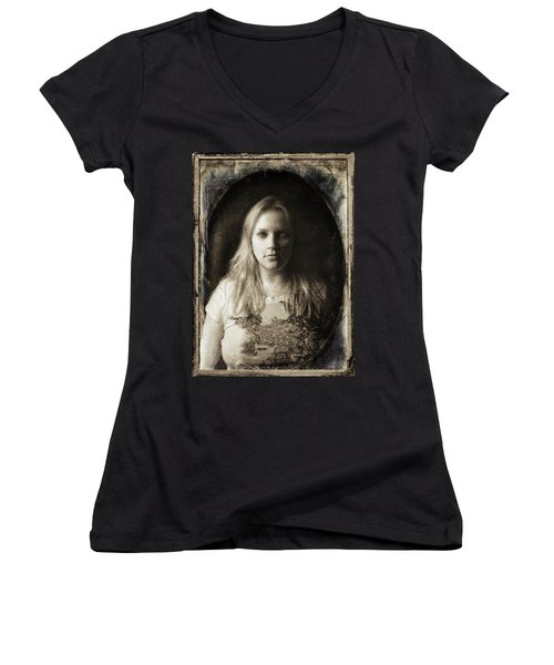 Vintage Tintype Ir Self-portrait Women's V-Neck