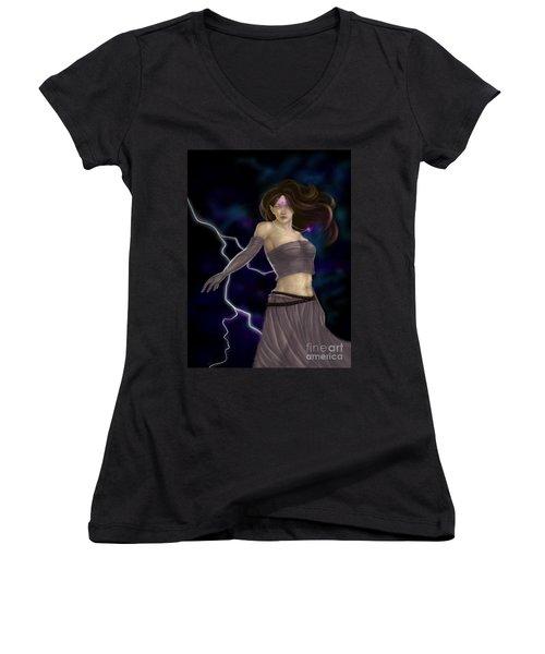 Violet Magic Women's V-Neck T-Shirt