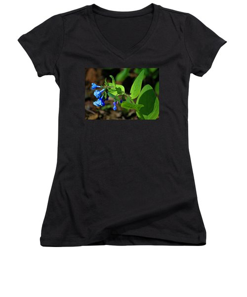 Virginia Bluebells Women's V-Neck