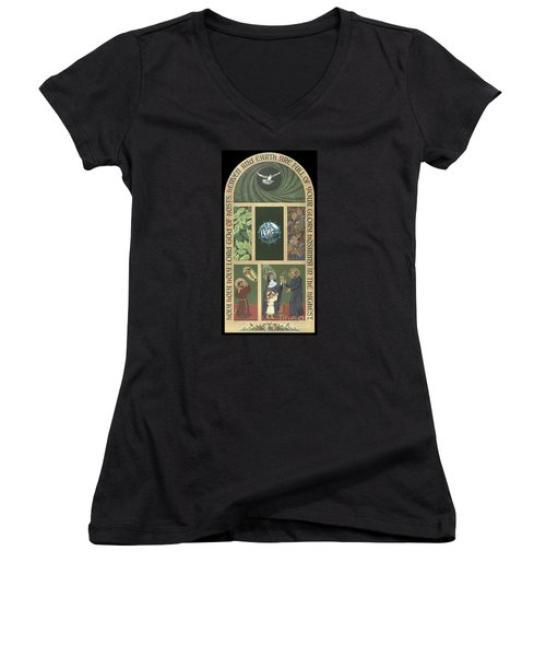 Viriditas - Finding God In All Things Women's V-Neck T-Shirt (Junior Cut) by William Hart McNichols