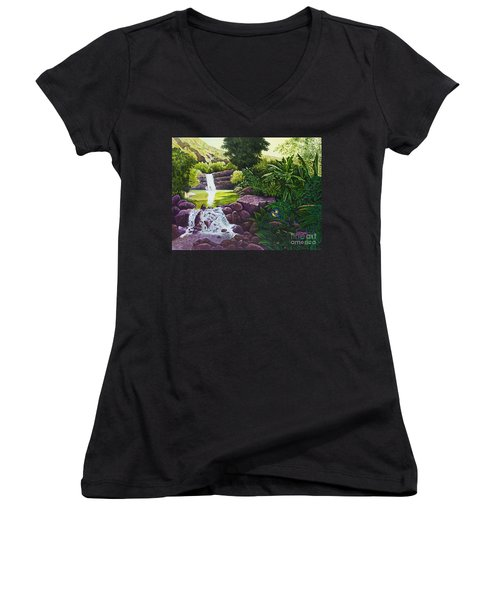 Visions Of Paradise X Women's V-Neck (Athletic Fit)