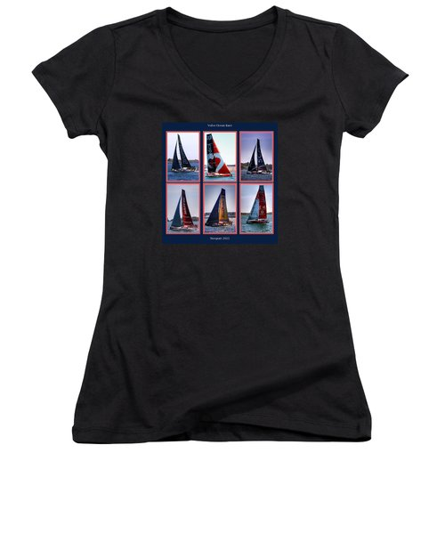 Volvo Ocean Race Newport 2015 Women's V-Neck T-Shirt