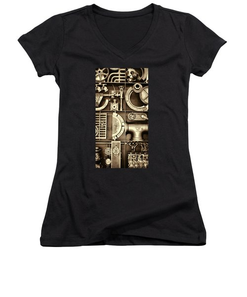 Vulcan Steel Steampunk Ironworks Women's V-Neck (Athletic Fit)