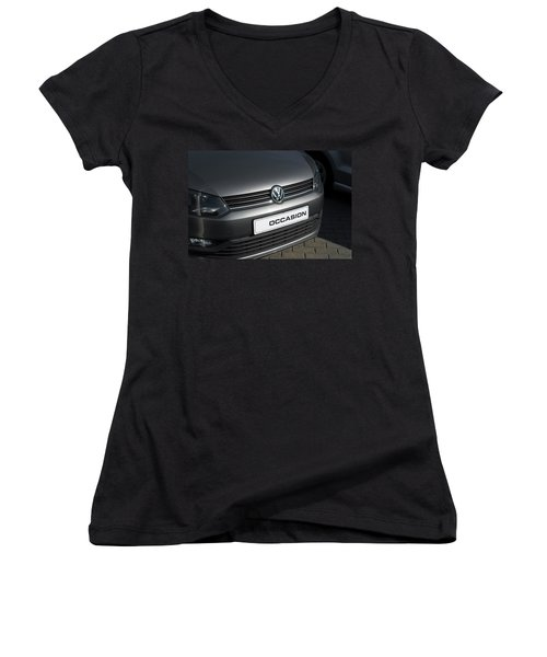 Women's V-Neck T-Shirt (Junior Cut) featuring the photograph Vw Occasion by Hans Engbers