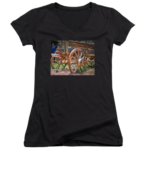 Wagons Ho Women's V-Neck (Athletic Fit)