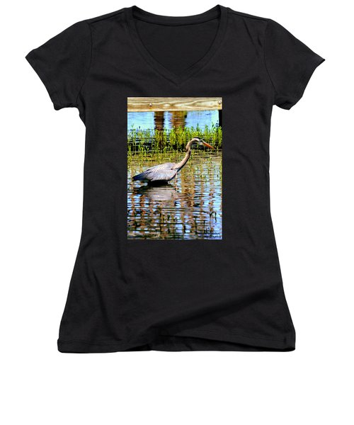 Waiting For Dinner Women's V-Neck