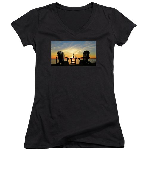 Waiting For Summer Women's V-Neck (Athletic Fit)