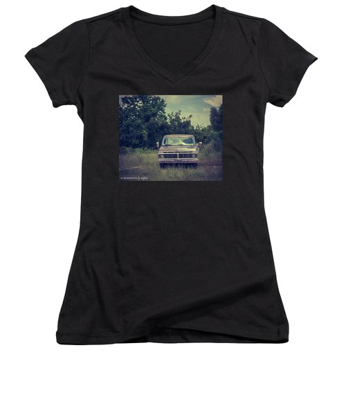 Waiting To Die Women's V-Neck (Athletic Fit)