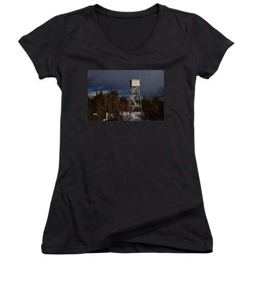 Waiting Tower Women's V-Neck
