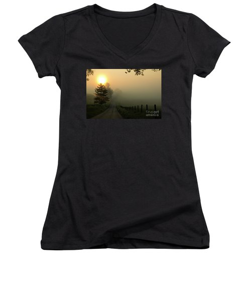 Wake Me Up When September Ends Women's V-Neck (Athletic Fit)