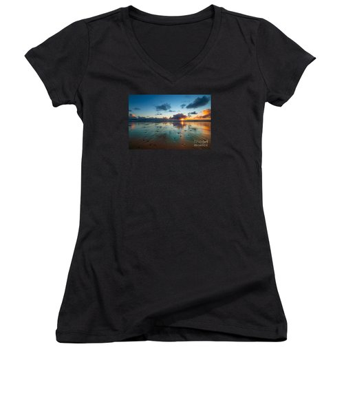 Wales Gower Coast Summer  Women's V-Neck (Athletic Fit)