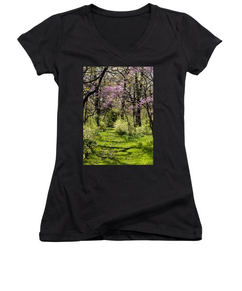 Walk In The Park Women's V-Neck (Athletic Fit)