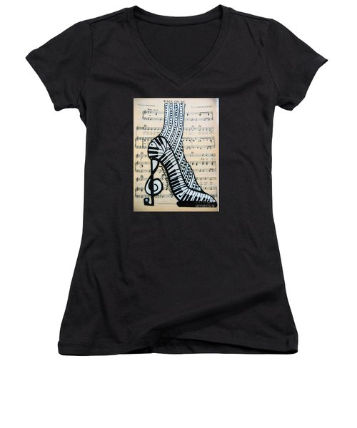 Walk On By Women's V-Neck (Athletic Fit)