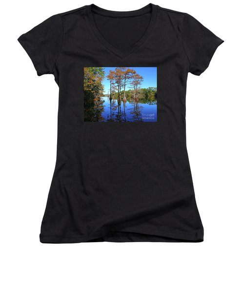 Walkers Mill Pond Women's V-Neck (Athletic Fit)