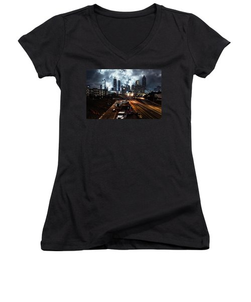 Walking Dead Tribute Downtown Atlanta Georgia  Women's V-Neck