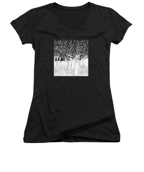 Walking Out Of The Woods Women's V-Neck T-Shirt