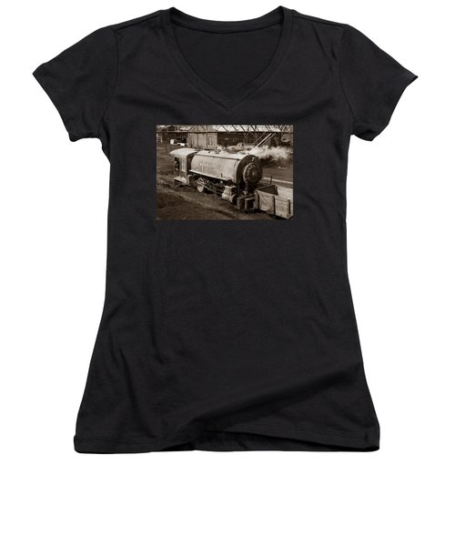 Wanamie Pennsylvania Coal Mine Locomotive Lokey 1969... Women's V-Neck (Athletic Fit)