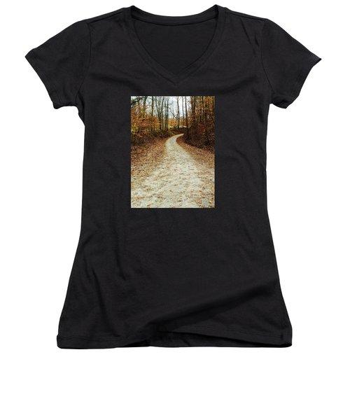 Wandering Road Women's V-Neck T-Shirt