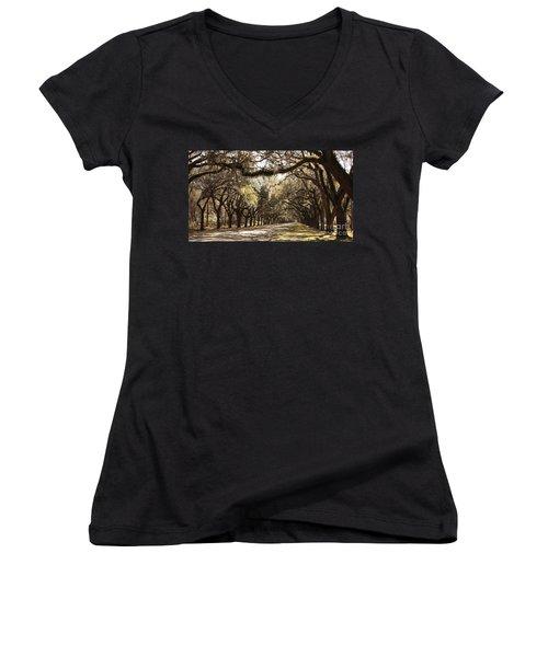 Warm Southern Hospitality Women's V-Neck T-Shirt (Junior Cut)