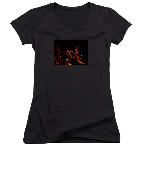 Warrior Rabbit Women's V-Neck T-Shirt