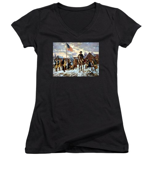 Washington At Valley Forge Women's V-Neck (Athletic Fit)