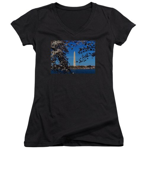 Washington Monument Women's V-Neck (Athletic Fit)