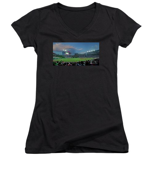 Washington Nationals In Our Nations Capitol Women's V-Neck (Athletic Fit)